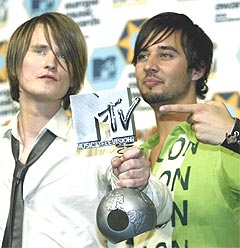Röyksopp shown here at last year's MTV awards, took home prizes for Vieo of the Year as well as receiving the prestigious Spellemann-prize of the year for remarkable achievement